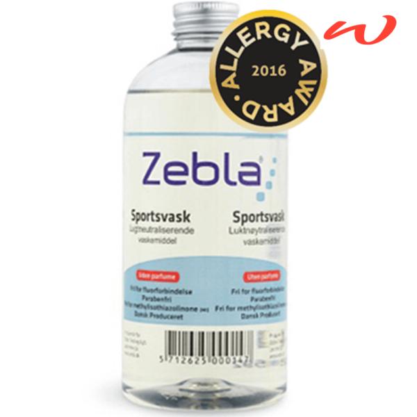 Zebla sportsvask uden parfume 500ml